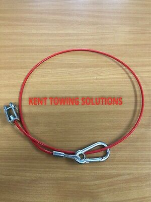 New Maypole Breakaway Cable Trailer Caravan Horse Box Tow Van 1M 3mm Dia MP502