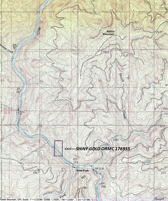 20 Acre Mining Claim On Cow Creek in Douglas County Southwest Oregon GREAT GOLD