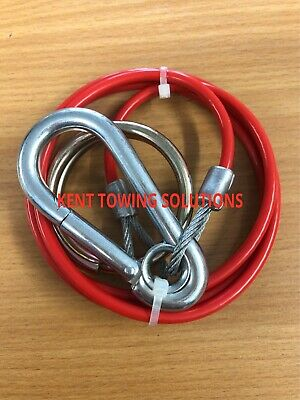 New Breakaway Burst Ring Cable For Trailer Caravan Horse Box 1M, 3mm Diameter