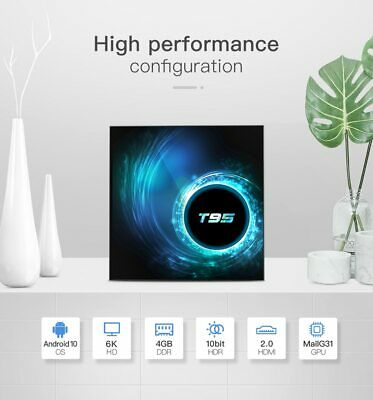 2020 NEW T95 TV Box Android 10.0 HD 6K Quad Core Android TV Box Smart TV