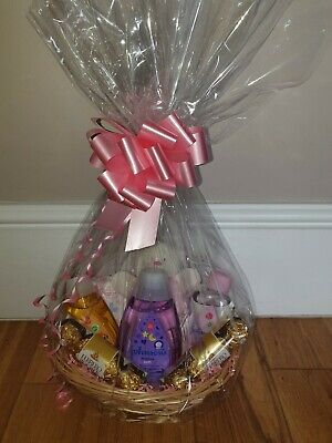 Baby Girl Gift Hamper Wicker Basket