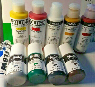Try Best Quality Acrylic Paints, that money can buy! Complete palette