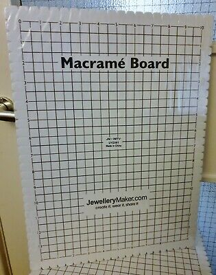 LARGE Macrame Board. Firm slotted 10x14 inch grid jewellery making crafts
