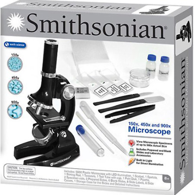Educational Toys For Kids Microscope Kit Science Chemistry Lab Set Smithsonian