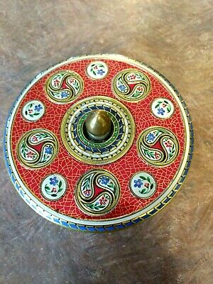 Metal Round Tin Floral Container with Lid – Made in Holland!