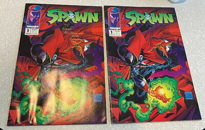 Spawn #1 2x Image 1992 Unsigned + Signed Al Simmons