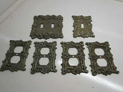 8 1967 Vintage Victorian  Switch&Plug Covers Roses Relief Design AMER TACK HOWE.
