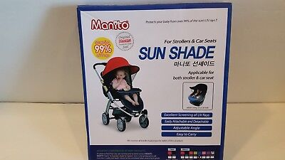 Manito Sun Shade for Strollers and Car Seats - BLUE Single NEW