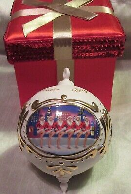 "Spectacular Radio City Christmas 3.5""  Porcelain Ornament, Rockettes, Used - Vg"