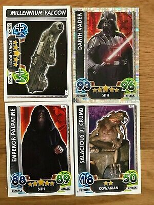 BULK BUNDLE Job Lot STAR WARS Force Attax TRADING SWAP CARDS x4 - COLLECTABLE!