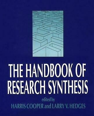 The Handbook of Research Synthesis by Harris M. Cooper