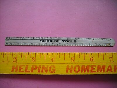 "Snap-On 6"" Steel Rule MM & 32nds Gradients w/8ths, 16ths, 32nds & 64ths Decimal"