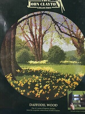 John Clayton Collection Tapestry Design Daffodil Wood Stitch Kit 1999 Heritage