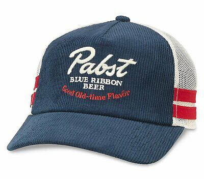 American Needle Pabst Blue Ribbon Beer Mack Corduroy Trucker Mesh Adjustable...