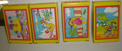 Vintage full set 0f 4 diff boxes puzzles from McDonalds     Circa 1992