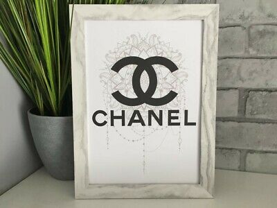 chanel fashion art picture poster decor kitchen bedroom dressing room A4