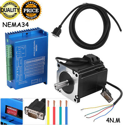 HSS86 Hybrid Servo Driver+NEMA34 Closed-Loop High Speed Stepper 4N.m 3000RPM Set