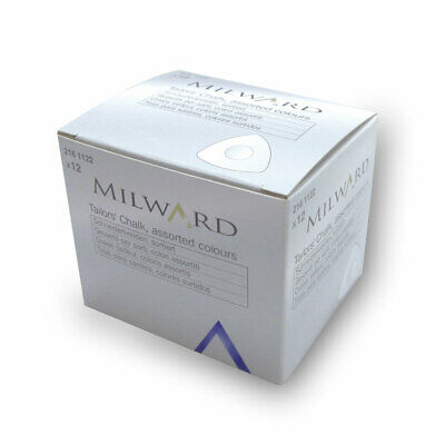 Milward 2161122 | Tailors Chalk | Triangle | Assorted Colours | Pack of 12