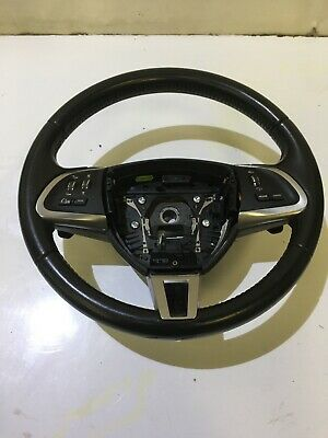 Genuine Jaguar Xf 2011-15 Facelift Leather Steering Wheel With Paddle Shifter