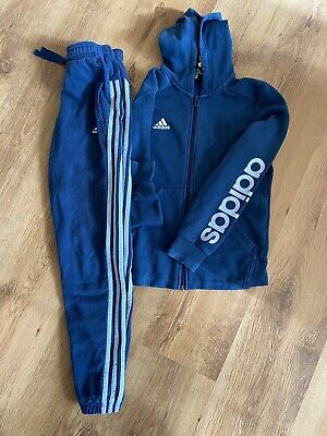 Girls Blue Adidas Tracksuit Age 11-12 Super Condition