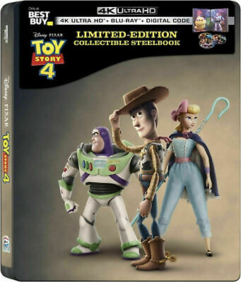 STEELBOOK Toy Story 4 - 4k Ultra HD and Blu Ray Disc Set, 2019