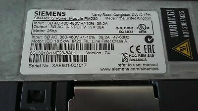 6Sl3210-1Ne23-8Al1  Siemens  Sinamics   Power Module  Pm230