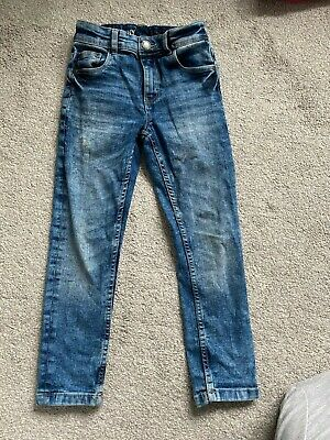 boys next skinny blue denim jeans acid wash age 6 years