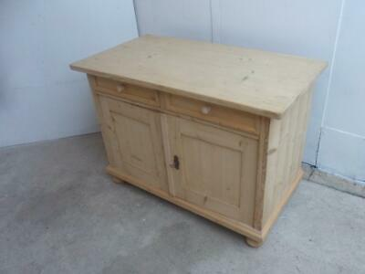 A Lovely Small Antique/Old Pine 2 Door 2 Drawer Dresser Base to Wax/Paint