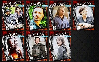 TWD RUSTIC WAVE 1 RUST VARIANT 7 CARD SET Topps WALKING DEAD DIGITAL TRADER