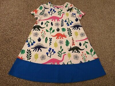 BNWOT Mini Boden Girls Multicoloured Dinosaur Dress, Age 2-3