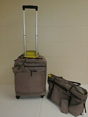 "Victorinox Ambtion 20"" Spinner Carry-On & Computer Tote Shoulder Bag (Sand..."