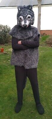 Wolf Costume Adult Size Ideal For Pantomime Or Stage Wear