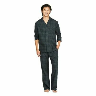 Goodfellow & Co Men's Plaid Flannel Pajama Set Forest Green Size: Medium