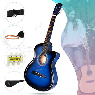 "38"" Electric Acoustic Guitar Beginner Classical Folk EQ w/Bag Strap String Pick"