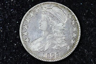 Estate Find 1828 - Capped Bust Half Dollar!!  #H9102
