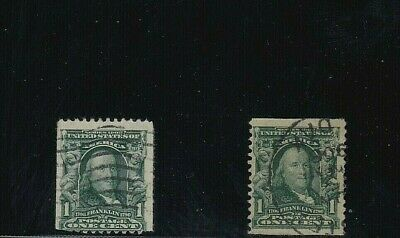 US STAMPS  1c #316 and #318 coils, unconfirmed, unknown catalog value  (658)