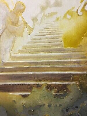 """""""Golden Invitation"""" Original Abstract Painting Wall Art by Keri Orozco"""