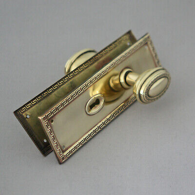 Edwardian Greek Key Door Knobs