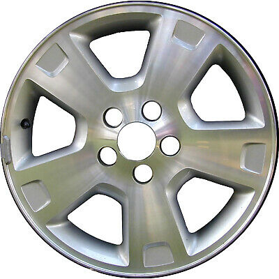 Remanufactured 17X7.5 Alloy Wheel 6 Double Spoke Silver w//a Machined Face
