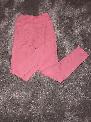 Barely Worn Lularoe Kids Tween 8-12 Leggings Heathered Pink