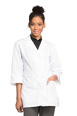 "Cherokee 1470 Women's 30"" 3/4 Sleeve Lab Coat Medical Uniforms Scrubs"