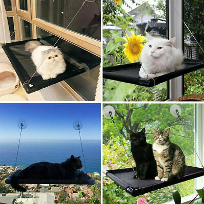 Cat Kitty Window Mounted Basking Bed Pet Shelf Kitten Perch Seat High Hammock US