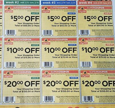 3 weeks Shoprite coupons start February 12 2020