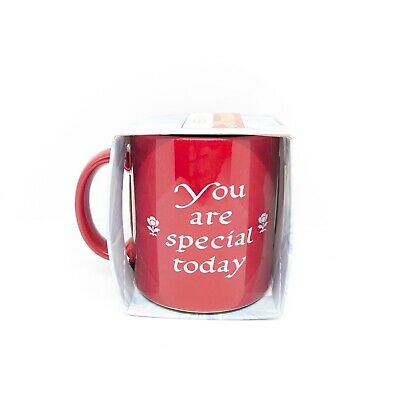 Waechtersbach Red You are Special Today Mug New in Box Germany Coffee Cup Flower