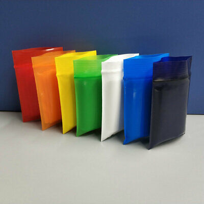 Colorful Resealable Zip Lock Bags Plastic Poly Storage Packaging Zipper Pouches