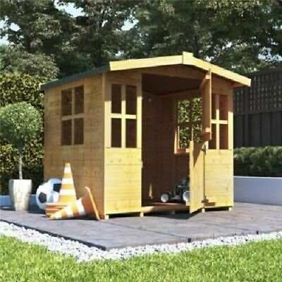 Childrens Fun Wendy House Playhouse Wooden Garden Storage Shed Play Kids Outdoor