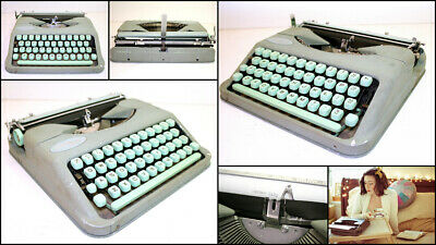 Vintage 1960's HERMES Baby Portable Typewriter with Carry Case