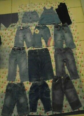 Job Lot Boys Girls Jeans Various Sizes and Brands x 18 Items