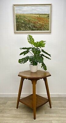 Antique Oak Occasional / Accent Table, Arts & Crafts Style - Project FB21