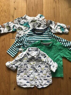 Primark baby boy 3-6 months Long Sleeved Tshirt X3 Car Shirt From M&Co